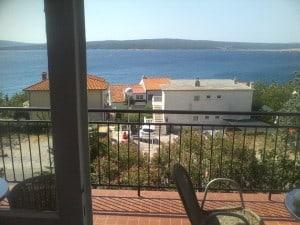 Groupon i wakacje: Chorwacja za śmieszne pieniądze - widok z pokoju